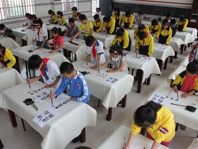 开发区小学跳绳学生毛笔字比赛小学作文比赛举行图片